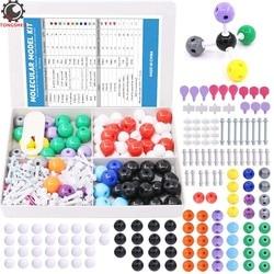 252Pcs Molecular Model Kit for Inorganic and Organic Molecular Model Teacher and Student Kit 86 Atoms & 153 Links & 12 Orbitals