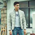 Novo 2016 de inverno da marca homens jaqueta casual quente para baixo homens jaqueta acolchoada grosso outerwear moda masculina parka