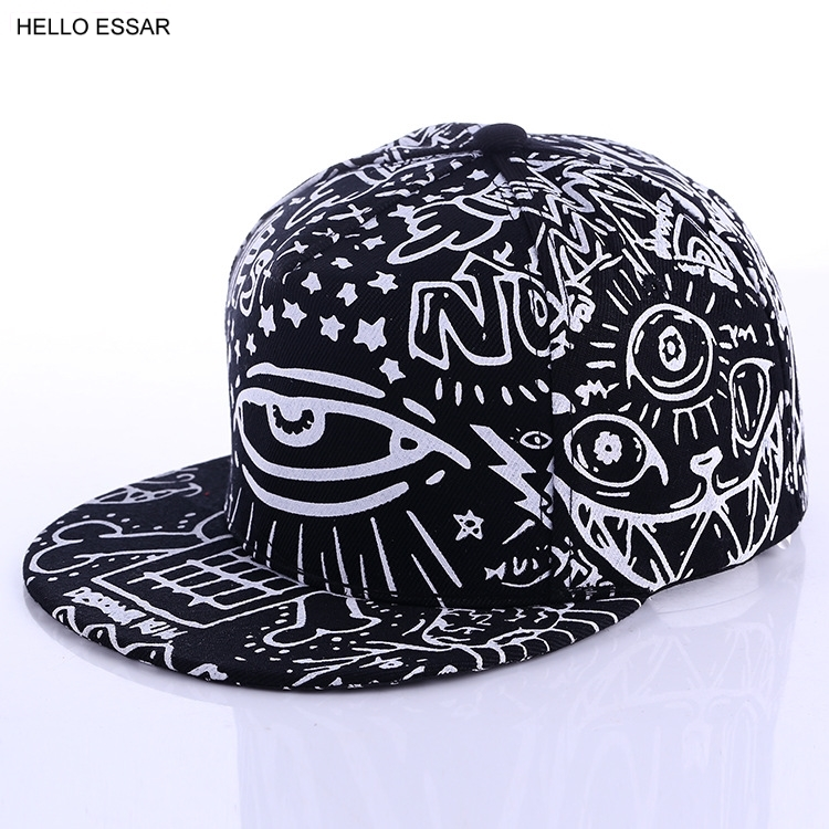 Fashion New Graffiti eyes Hip hop   Cap   Hats for men women Vintage flat hat   Baseball     Cap   70014