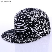 Moda New Graffiti eyes cappellino luminoso cappellino Hip hop cappelli per uomo donna cappello piatto Vintage cappello da Baseball 70014