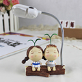 2016 New Resin Figurine Craft LED Lamp Light Home Good choice for birthday gifts,wedding gift,home decor FULI