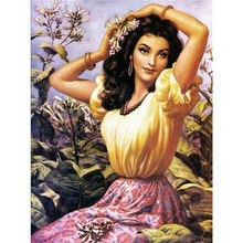 diamond painting girl,full coverage  kits, embroidery china