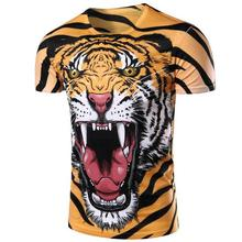 zogaa 2018 New mens t-shirt tiger 3d printing pullover short sleeve Casual head T shirt domineering handsome T-shirt
