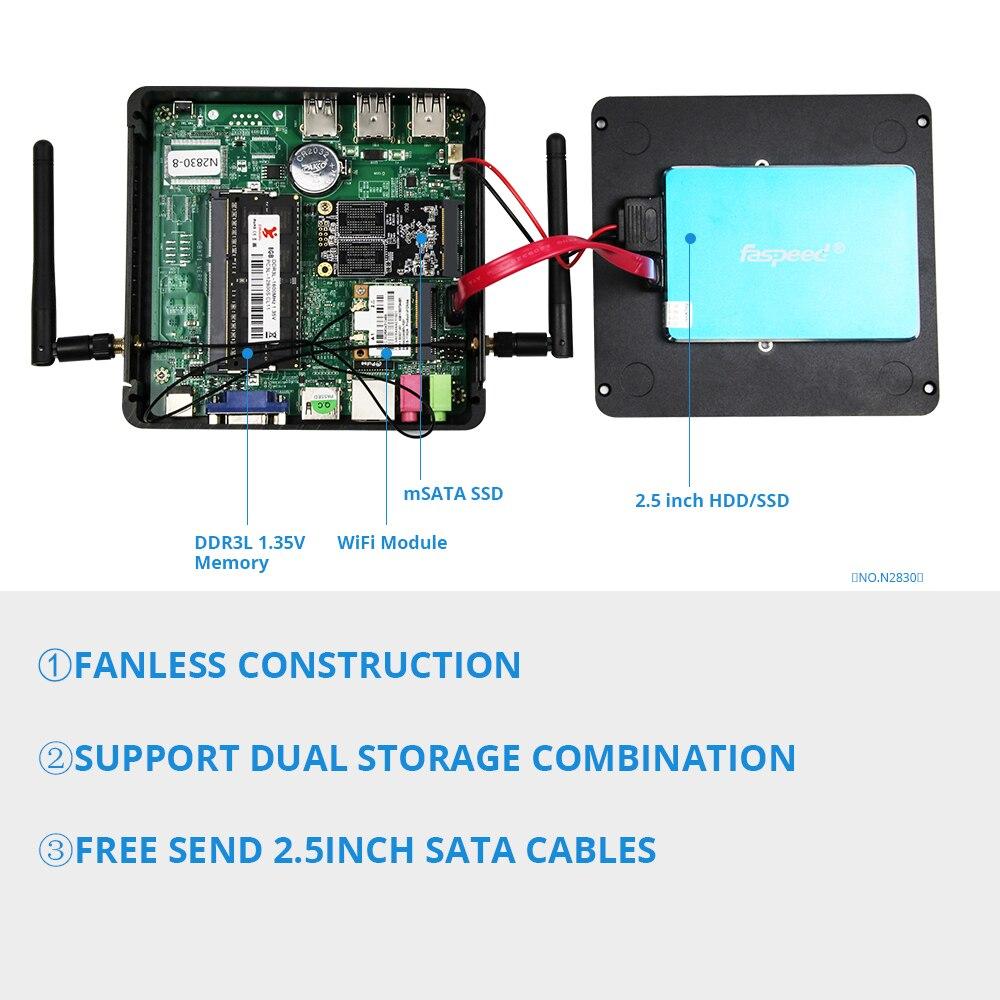 Image 5 - Xcy X30 ミニ pc インテル celeron J1900 windows linux  クワッドコアマイクロデスクトップコンピュータ vga hdmi 無線 lan ギガビット lan 5 * usb htpc -     グループ上の パソコン