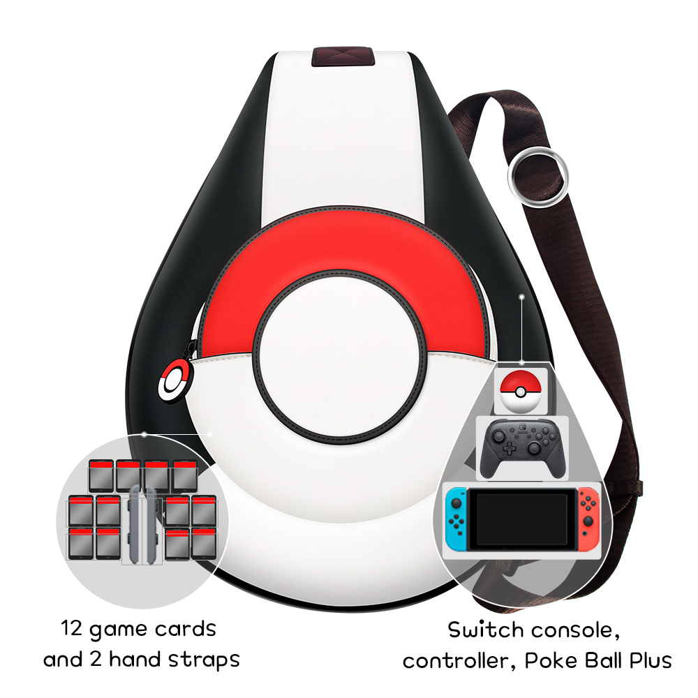 Image 4 - OIVO Switch Storage Bag for Nintend Switch Portable Protective Crossbody Bag Soft PU Leather Backpack Big Capacity Bags for NS-in Bags from Consumer Electronics