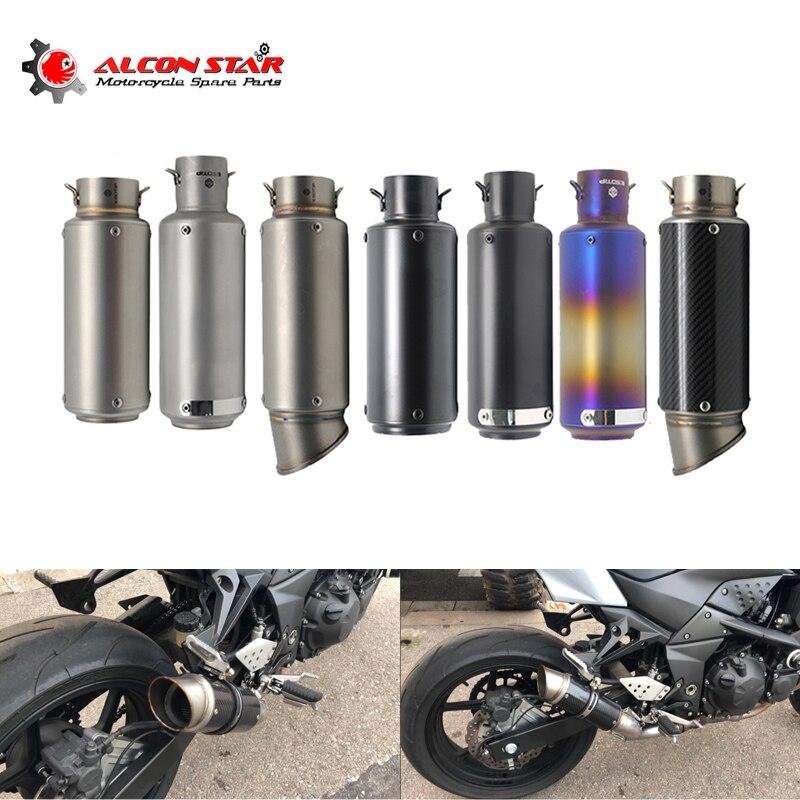 Alconstar-51mm/60mm moto pot d'échappement silencieux GP course en Fiber de carbone échappement silencieux pour Honda CRF 230 CBR600RR KTM