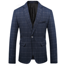 Men Suit Blazers Fashion 2018 New Arrival Formal Dresses British style Male Slim youth Business Casual plaid Jackets