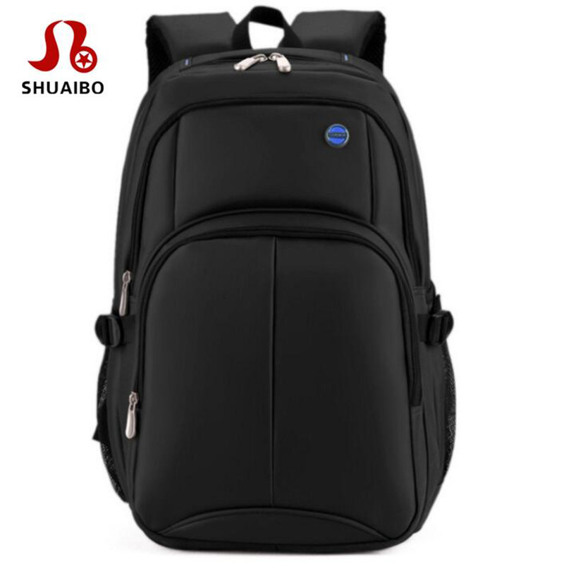 SHUAIBO Brand Business Men's Backpack Large Capacity Travel Backpack 16 Inches Shockproof Laptop Bag School Bags For Boys Travel brand coolbell for macbook pro 15 6 inch laptop business causal backpack travel bag school backpack