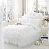 Luxury bedding lourie exquisite lace bedding set,romantic white wedding bedding sets,duvet cover housse de couette bed sheet