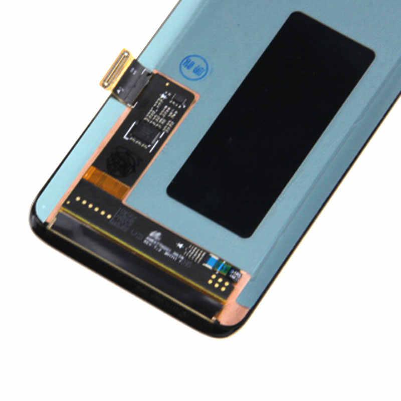 شاشات lcd لسامسونج غالاكسي S8 زائد G955 شاشة الكريستال السائل مجموعة المحولات الرقمية لشاشة تعمل بلمس ل غالاكسي S8 G950 G950F إصلاح قطع الغيار