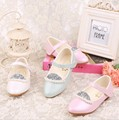 35% Summer Children girl princess pear Pointed Toe shoes girl's single fashion dance Leather shoes 26-35 1602
