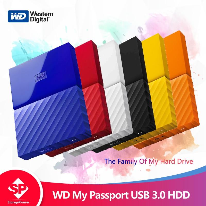 Western Digital mi pasaporte hdd 2,5 USB 3,0 SATA HDD portátil de almacenamiento de dispositivos de memoria de disco duro externo de 1 TB 2 TB 4 tb
