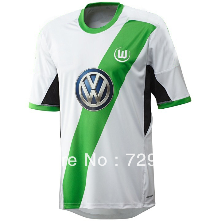 outlet store 458b4 87aeb Top Thai Quality Soccer Jersey 13 14, VfL Wolfsburg Away ...