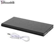 Tollcuudda 10000 mAh Portable Métal Powerbank Mobile Téléphone Double USB Éclairage LED Chargeur de Batterie Externe