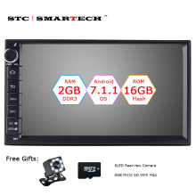 SMARTECH 2 Din Android 7.1 Car Radio GPS Navigation Autoradio System Quad Core 2GB RAM 16GB ROM Support Video Out DVR OBD DAB