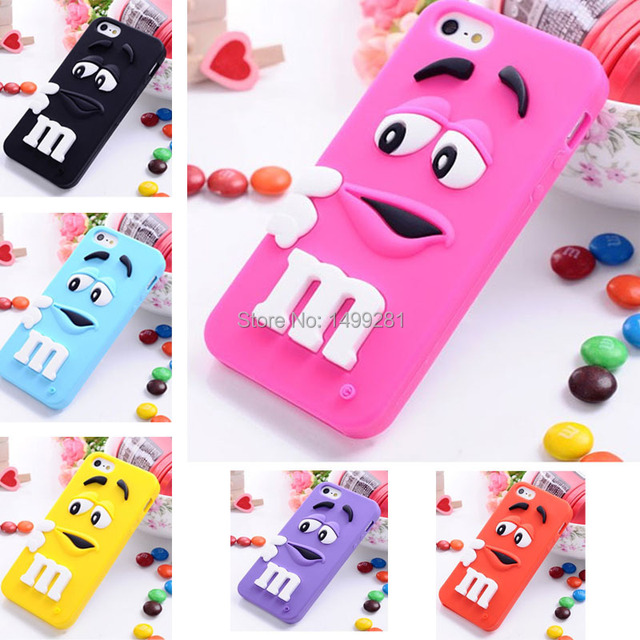 5de8cb374 Cute Cartoon Colorful Cute M M Candy bag capa de celular capinha para  Silicone Case for iPhone 5 5s carcasa funda coque cover