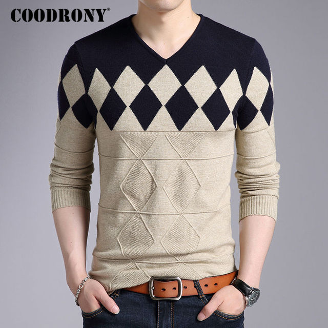 COODRONY Cashmere Wool Sweater for Men 4