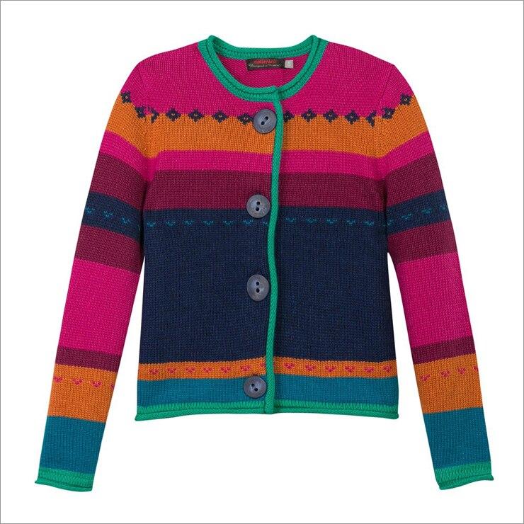 Catimini Free Shipping 2016 autumn Catimini girl printed long sleeve knitwear cotton tee children s puff