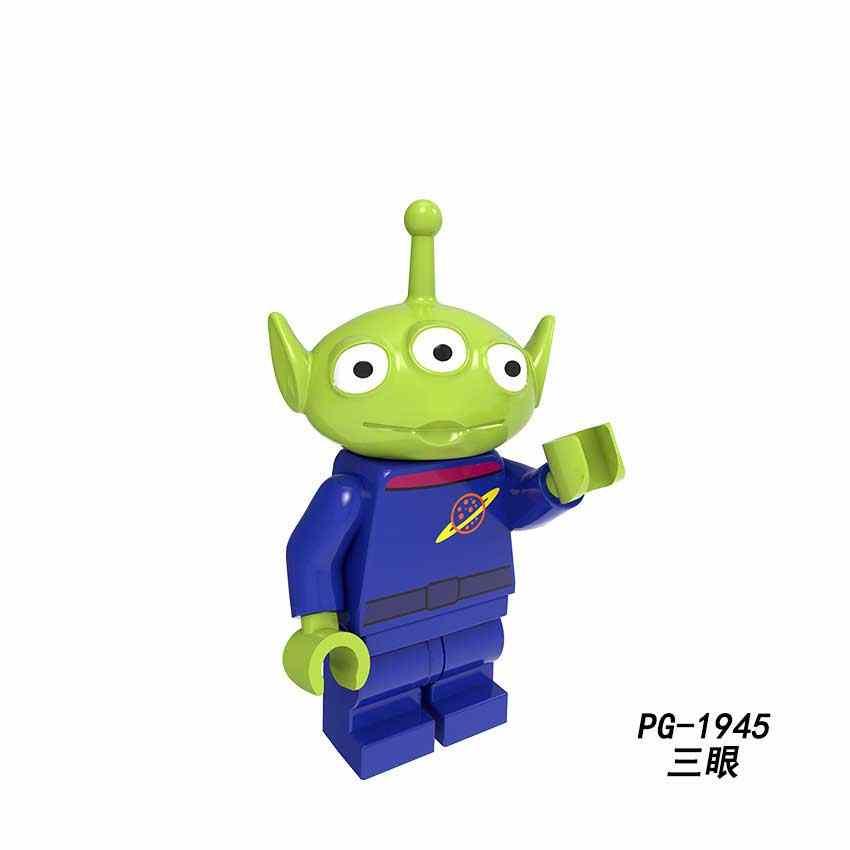 2019 disney legoed brinquedos história 4 minifigurado woody jessie brinquedo aliens buzz lightyear blocos de construção brinquedo para crianças pg8222