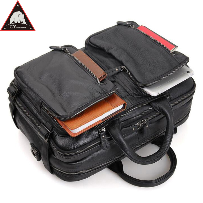 ANAPH Carry On Luggage Cow Leather Laptop Travel Bag For Men Multi Function Overnight Weekender Duffle Large Capacity Tote Black