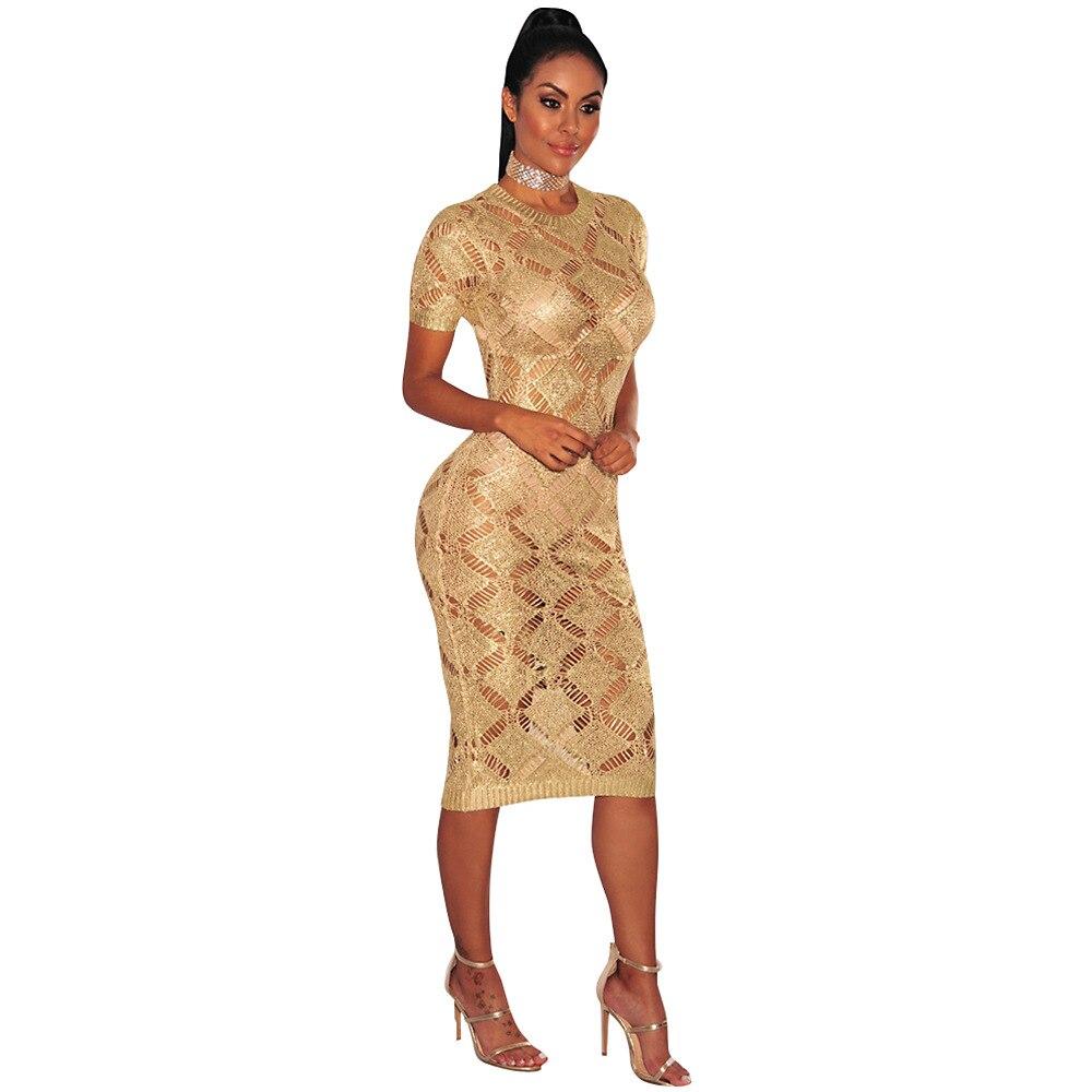 HTB1tBhoSpXXXXbXaXXXq6xXFXXXt - 2018 Latest Summer Sexy Dress Rose Gold Knitted Nightclub Party Dresses Women Short Sleeve Fashion Casual Dress