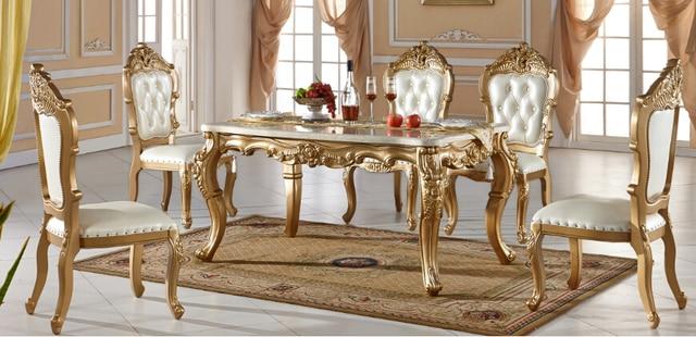 Venta caliente de lujo mesa de comedor y silla en Mesas de Comedor ...