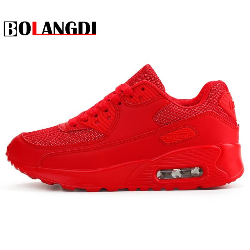 Bolangdi Air Mesh Women Men Lightweight Outdoor Sport Running Shoes Couples Breathable Soft Athletics Jogging Sport Sneaker Shoe