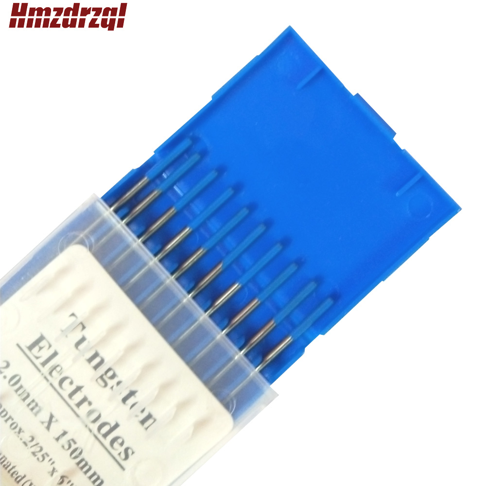 WL20 10 Piece Blue 2.0mm*150mm(Approx.2/25''x6'') Lanthanated Tungsten Electrode Head Tungsten Needle/Rod For Welding Machine