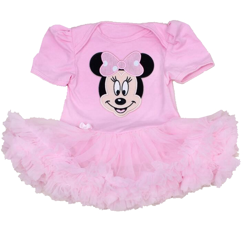 Pink Minnie Bebe Summer Newborn Baby Girl Clothes Body Baby Rompers Lace Tutu Dress Roupa Infantil