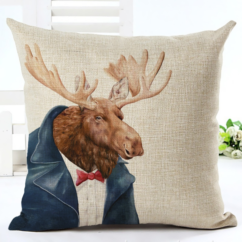 2017 New Animals Series Print Cushion cover Home Decor Decorative - Home Textile - Photo 4