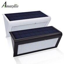 Luces solares con Sensor de movimiento mejoradas, 4 en 1, 800lm, 46 led, lámpara de seguridad inalámbrica para exteriores, luz de jardín con 4 modos inteligentes