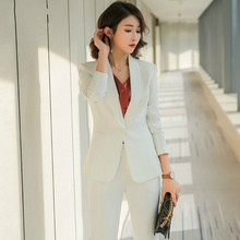 Set female new 2018 autumn new women's suit two-piece fashion professional temperament small suit + casual wild trousers trend