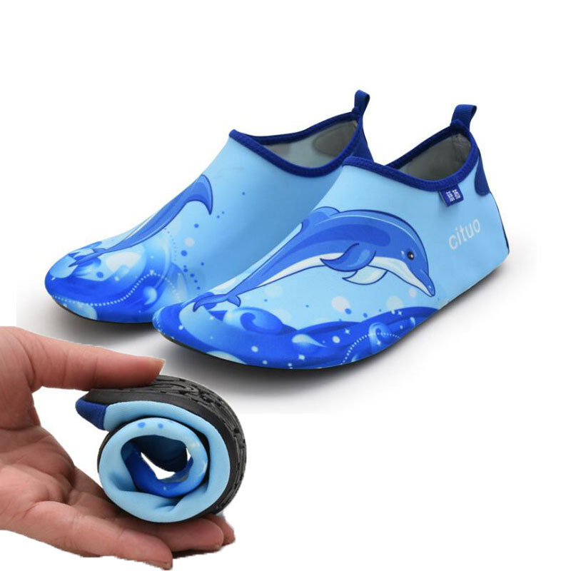 Quick Dry Child Shoe Boys Sneaker Dolphin Prints Sport Running Anti-slip For Swimming Pool Beach Kid Shoes Boy Girl Sneakers