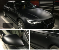 Matt Black Vinyl Car Decal Wrap Sticker Black Matt Wrap Film For Motorcycle Car Wrapping 1.52m x 5m