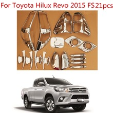 цена на High-quality 21PCS ABS Chrome plated trim accessories plated For Toyota Hilux Revo 2015-2018 Car exterior refit is special