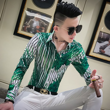 Hoge Kwaliteit Tuxedo Shirt Mannen Merk Nieuwe 2019 Lange Mouwen Mens Casual Shirts Slim Fit Streetwear Gestreepte Shirts Mannen Jurk 3XL M