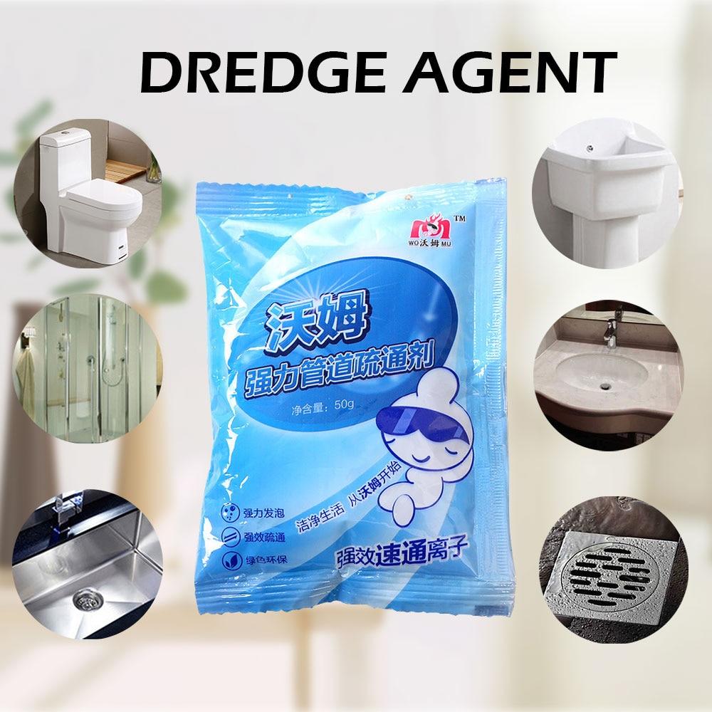 Dredging Agent Sewer Toilet Dredge Drain Cleaner Bathroom Hair Filter Strainer Powder Bomb Drain Cleaner Bathroom Kitchen Tools