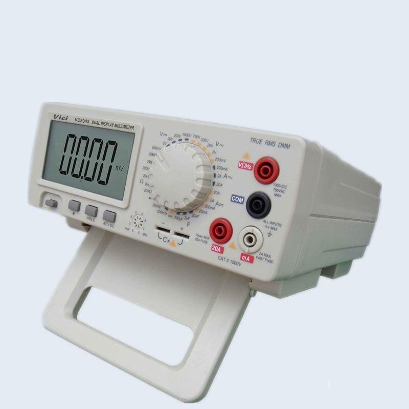 Digital Multimeter VC8045 Bench Top 4 1/2 True RMS DCV/ACV/DCA/ACA victor vc9808 3 1 2 digital multimeter dcv acv dca r c l f