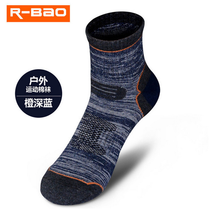 5 Pairs R-BAO RB040 85% Cotton Breathable Hiking Socks Outdoor Mens Sports Spring Summer Fit to Size 39-43