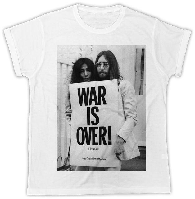 2faa3bea WAR IS OVER JOHN LENNON MEN S T SHIRT, DESIGNER , SUMMER , SHORT SLEEVE T  SHIRT* Hip Hop men tshirt rock Unisex t shirt Fashion