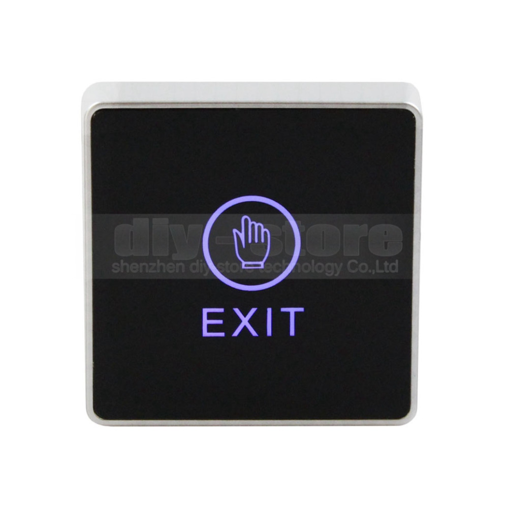 DIYSECUR Infrared Contactless Exit Button\ Door Release Switch for Access Control diysecur infrared contactless bule backlight touch exit button door release switch for access control free shipping