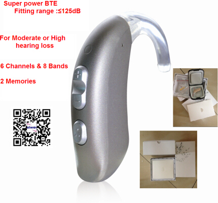 6 channels Programmable Digital Super power BTE Hearing Aid Sound Voice Amplifier J706U free DHL shipping hearing device