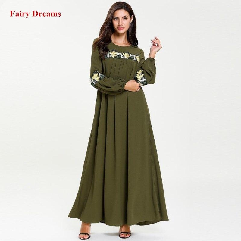ebc1b6861b Velvet Abayas For Women Flowers Embroidery Tassel Muslim Dress ...