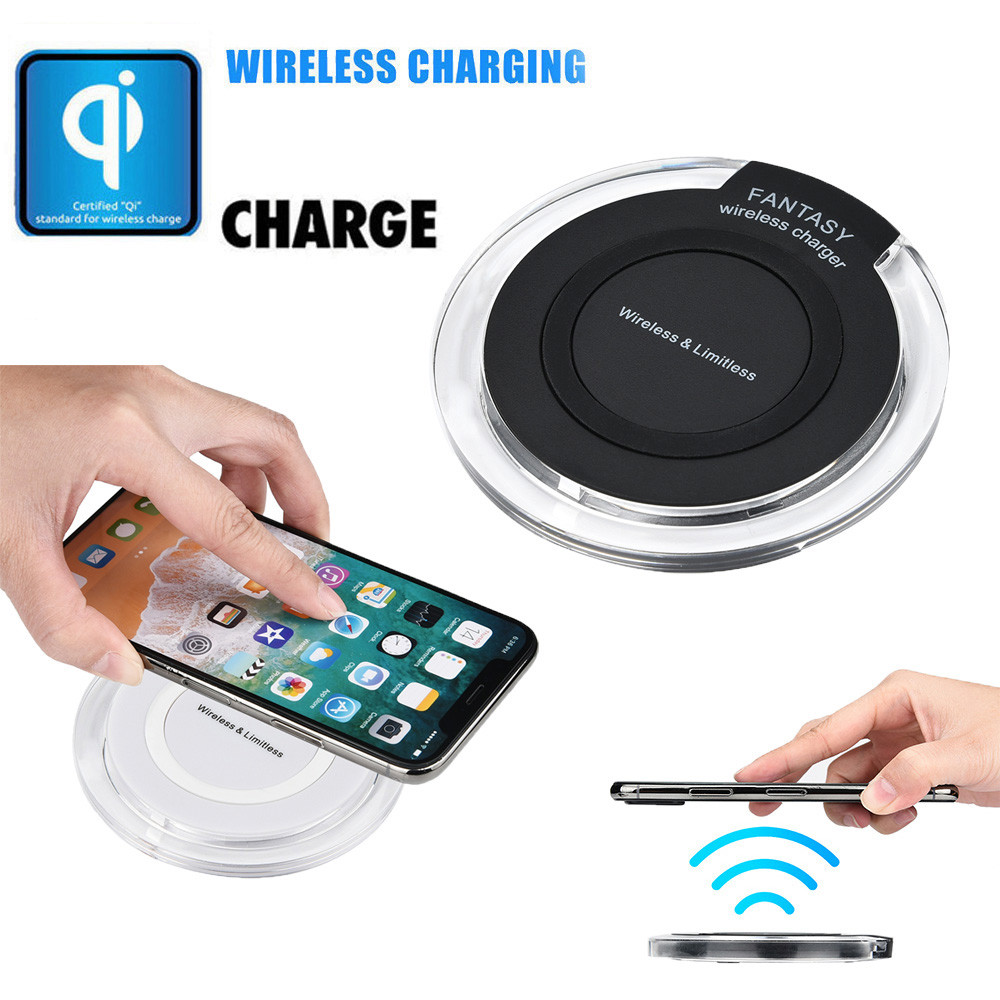 EPULA Mobile Phone Wireless Chargers Portable Mini Acrylic QI Wireless Limitless Charger Charging Pad Mat For Iphone 8/8 Plus/X super mini universal qi standard wireless charger charging plate hyacinth