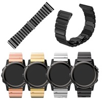 Stainless Steel Metal Strap for Garmin Band Metal Band for Garmin Fenix3 HR Replacement Band Watch Accessory with Metal Clasps