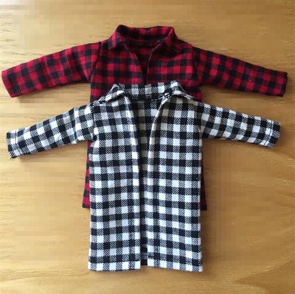 New Plaid Coat 1/6 Doll Jacket Blyth plaid Coat Blyth Clothes Outfit (Fit blyth, BJD,azone,pullip,ICY,FR,1/6 Doll)