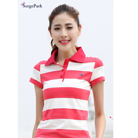2017 France Luxury Brand Eden Serge Park Lady Polo Shirt Summer New Collection Stripe Design For