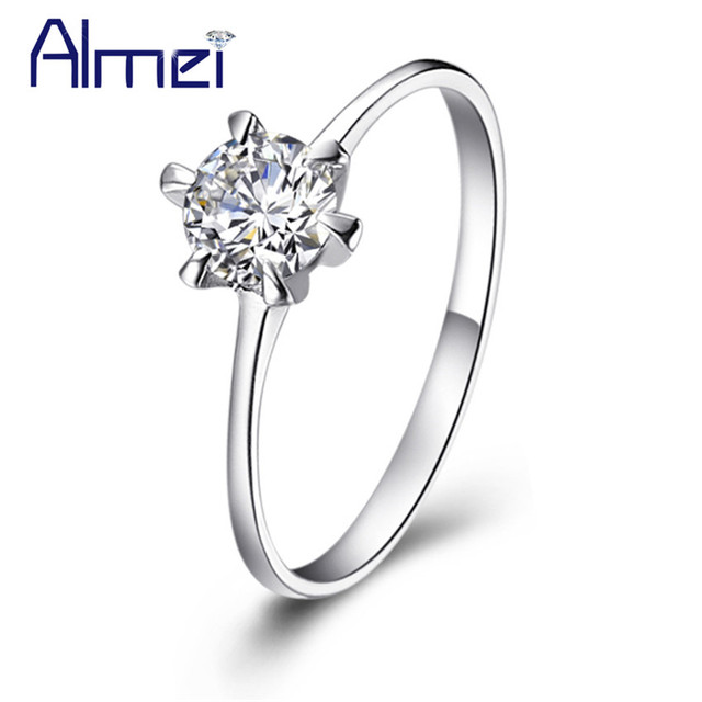 Uloveido Rings for Wedding Silver Jewelry CZ Zircon Anel Wedding Party Ring Vintage Anillos Mujer 2016 Fashion Bague Femme J002