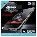 Para iphone 6 s luphie pára conveniente alça de alumínio do metal no vidro traseiro para apple iphone 6 6 s/6 6 s plus/7/7 além disso frete grátis