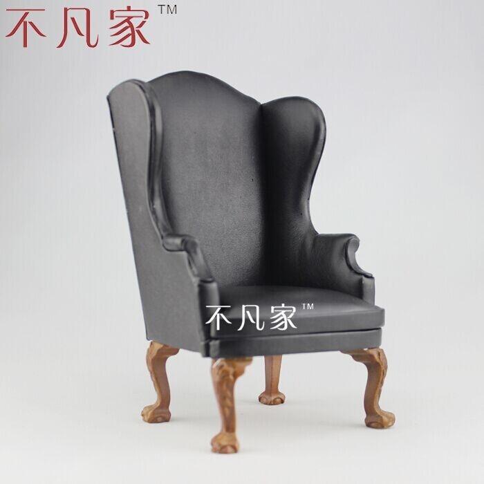 special offer Fine BJD 1:6 DOLL miniature Furniture Grand black leather sofa fine bjd 1 6 doll miniature furniture seat sofa high quality classical